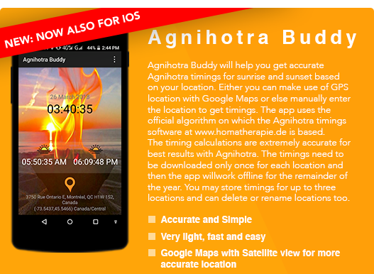 Agnihotra App Google Play Store Android